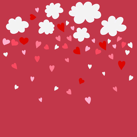 Cute clouds vector illustration for love. isolated design , stickers. Valentine's  in kawaii style