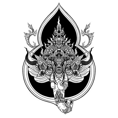 Indian Religious Festival Ganesh Chaturthi Template Design,Vector illustration