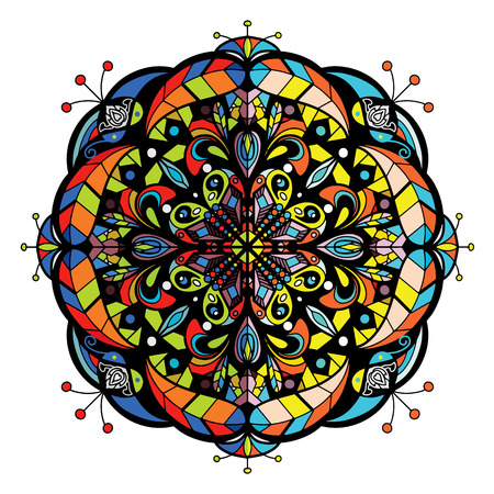 Vector de Mandala para arte, libro para colorear, zendoodle. Redondo para colorear páginas de libros, diseño de mandala. Mandala para colorear. patrón de encaje de adorno redondo