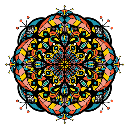 Mandala vector for art, coloring book, zendoodle. Round  for coloring book pages, mandala design. Coloring mandala. round ornament lace pattern Illustration