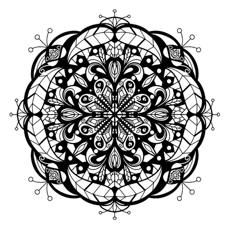 Mandala Vector For Art, Coloring Book, Zendoodle. Round For Coloring..  Royalty Free Cliparts, Vectors, And Stock Illustration. Image 124445980.