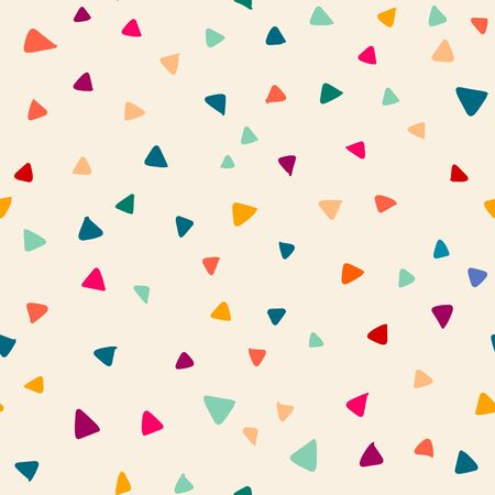 Seamless pattern with  doodle triangles vector background  for printing, website, fabric, poster, cards Ilustração