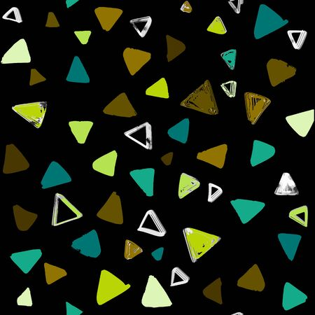 Seamless pattern with  doodle triangles. vector background  for printing, website, fabric, poster, cards Standard-Bild - 128701033