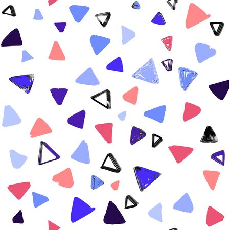 Seamless pattern with  doodle triangles. vector background  for printing, website, fabric, poster, cards Ilustração