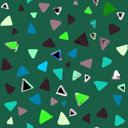 Seamless pattern with  doodle triangles. vector background  for printing, website, fabric, poster, cards Çizim