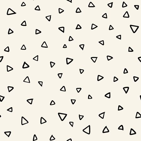 Seamless pattern with  doodle triangles vector background  for printing, website, fabric, poster, cards Illustration
