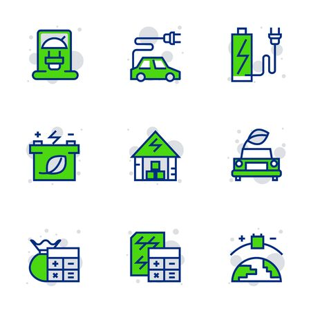 Green energy icon set suitable for infographics, websites and print media.  The icon set is pixelperfect with 32 X 32 grid. Crafted with precision and eye for quality.