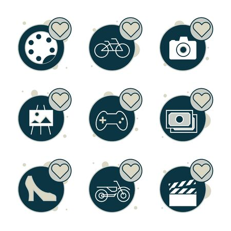 Love favorite   icon set suitable for info graphics, websites and print media.  The icon set is pixelperfect with 64 X 64  grid. Crafted with precision and eye for quality.