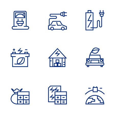 Green energy icon set suitable for info graphics, websites and print media.  The icon set is pixelperfect with 32 X 32 grid. Crafted with precision and eye for quality.thin line vector set