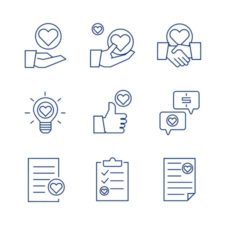 Premium set of heart line icons, icon set suitable for infographics, websites and print media.  The icon set is pixelperfect with 64 X 64  grid. Crafted with precision and eye for quality.
