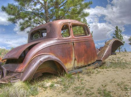 rusty car: Rusty car June 2, 2009 in Bryce Canyon National Park, UT
