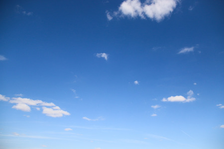 skie: Blue sky and clouds