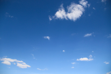skie: Blue sky and clouds to show lines. Stock Photo
