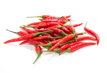 red chilly: red chilly peppers isolated on white background