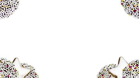 weihnachtsmann: Hintergrund mit weihnachtssüßigkeiten in den Ecken