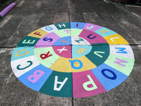 bbl: BBL Brain-based Learning Platform. School games painted on the surface.