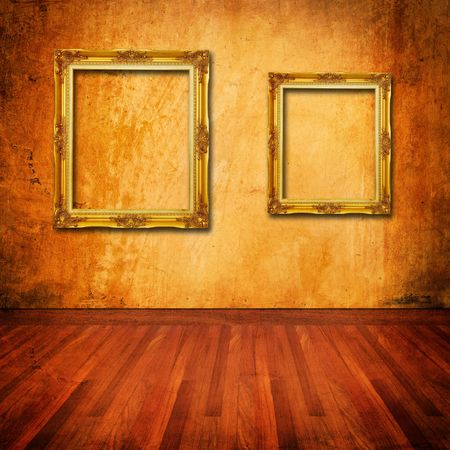old grunge wall with vintage frame Stock Photo - 8167530
