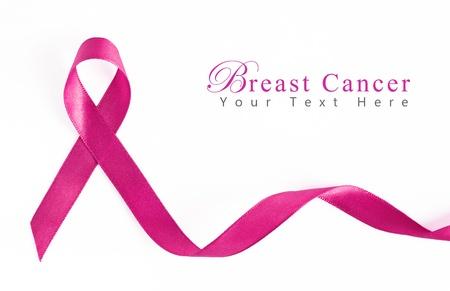 cancer de mama: Cinta de c�ncer de mama rosa con espacio de copia Foto de archivo