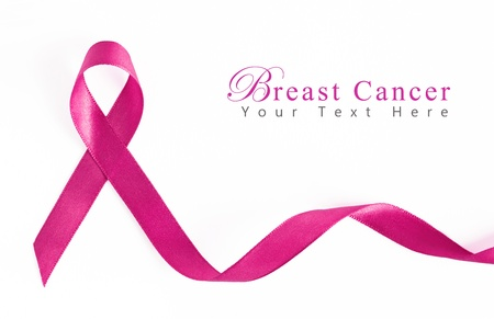Pink Breast Cancer Ribbon with copy space 版權商用圖片