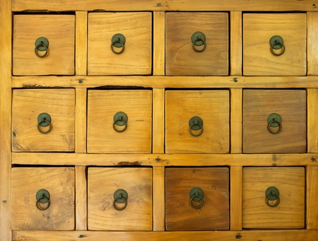 the old wooden drawer Stock Photo