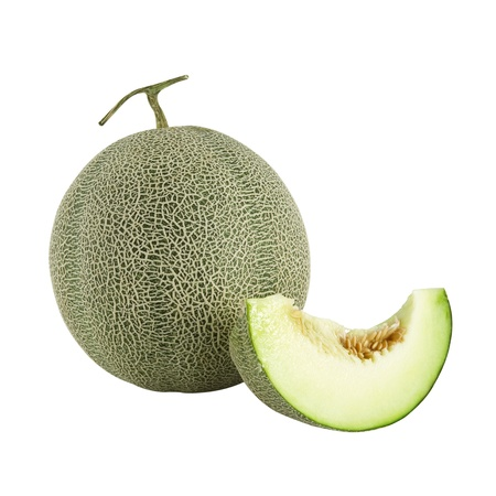 isolated of cantaloupe melon