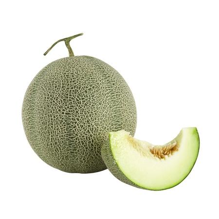isolated of cantaloupe melon