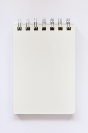 blank notebook on white background Stock Photo - 8580690