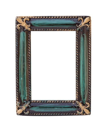 tarnished: vintage frame on white background with clipping path