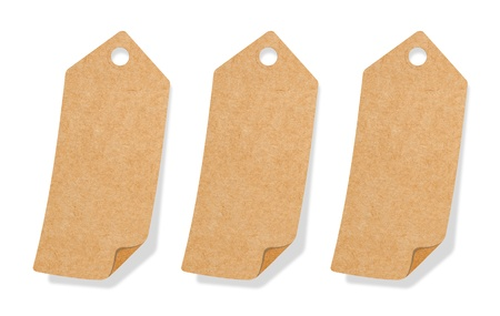Recycle Paper Tab Promotion Label Design with copy space photo