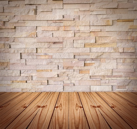 Blank Modern Brick Wall And Wooden Floor Stock Photo Picture And
