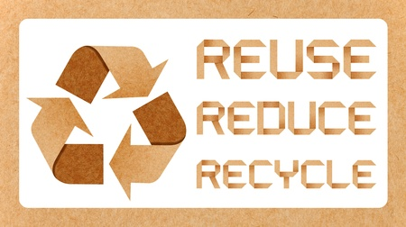 Recycle Logo From Recycle Paper  photo