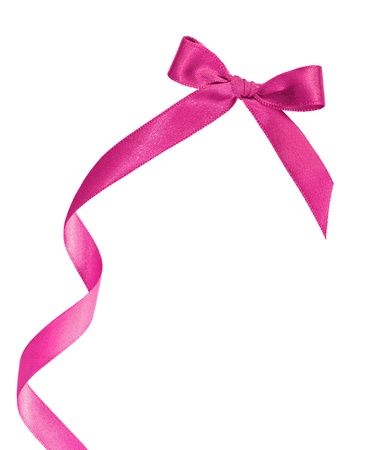 Rosa Geschenk-Box auf weißem Hintergrund mit Kopie Raum Standard-Bild - 10651551