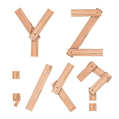 latin alphabet: alphabet Letter Y,Z,;,, Stock Photo