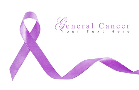 Lavender Ribbon for general Cancer with copy space