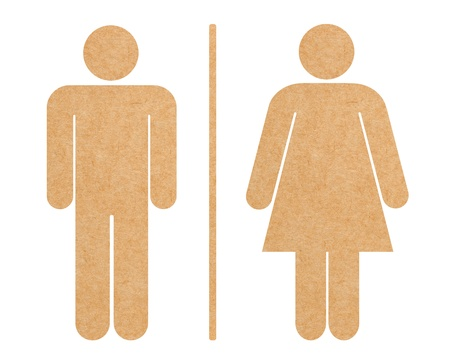 generic: Restroom icon set isolated with clipping path Stock Photo