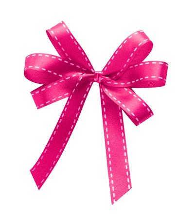 Pink Ribbon isoliert auf weißem Hintergrund Standard-Bild