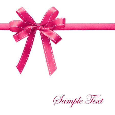 pink satin: Shiny Pink satin ribbon on white background with copy space