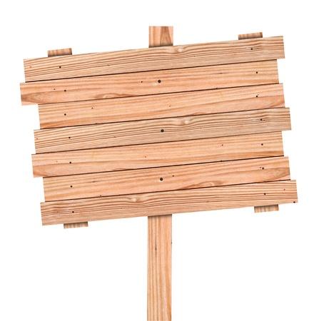 shingles: Señal de madera vieja aislado con trazado de recorte Foto de archivo
