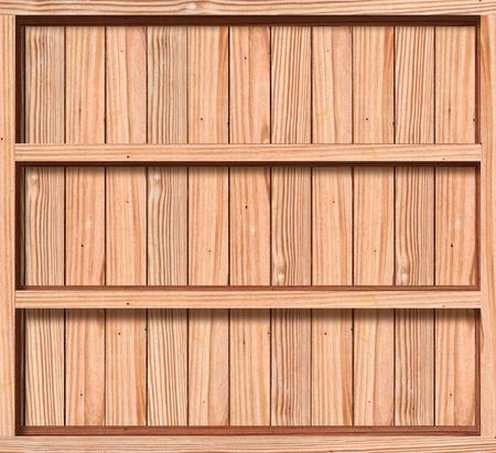 Abteile: Holzkiste mit drei F�chern