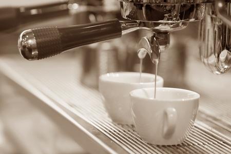 machine brewing  coffee