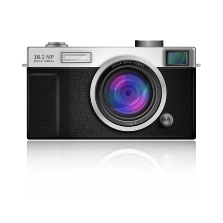 New Design of Digital Camera in Classic Style body Stock Photo - 13300710