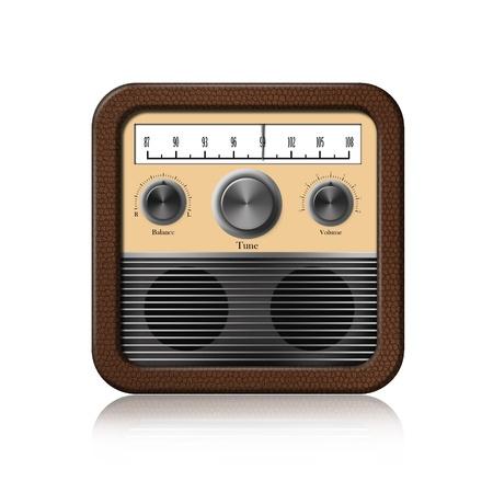 old radio: Retro Radio Icon on white background