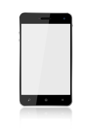 Touchscreen Smart Phone on white background Stock Photo - 13300693