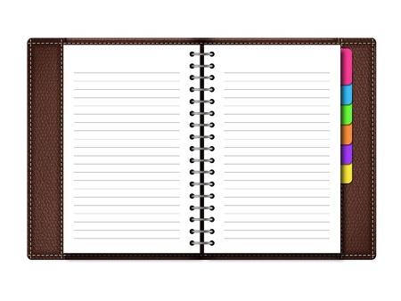 organizer page: Organizador personal sobre fondo blanco, incluye trazado de recorte