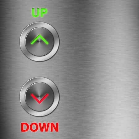 grown up: Up and Down metalic button with space
