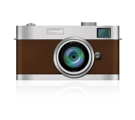 Classic Film Camera on white background photo