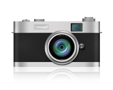 reflex camera: Classic Style Camera on white background