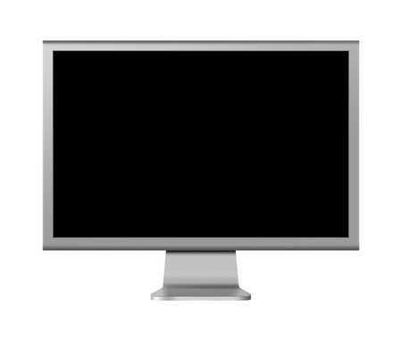 computer monitor LCD with blank screen on white background Stock Photo - 15077698