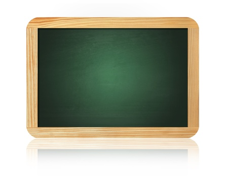 old blank blackboard isolated on white background photo