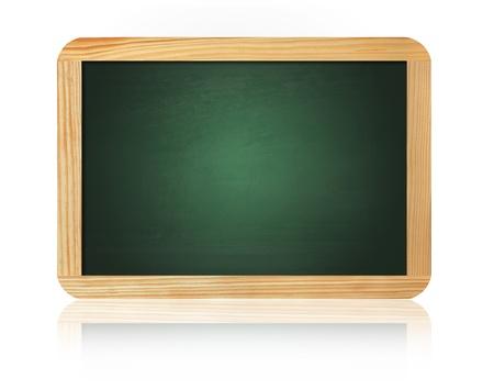 blank slate: old blank blackboard isolated on white background Stock Photo